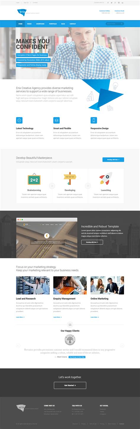homepage themes html enix modern corporate html template by indonez themeforest