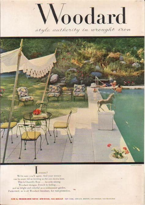 woodard  ad vintage patio furniture wrought iron