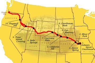 map of oregon trail 1850 american history usa