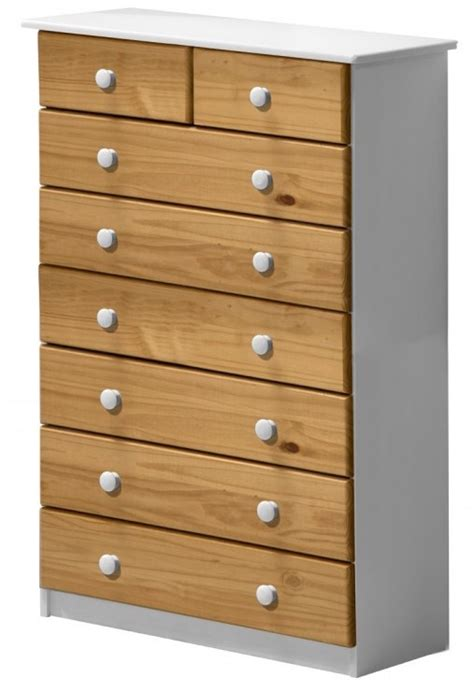 Commode Pin Miel by Commode 6 2 Pin Massif Blanc Et Miel Aladin