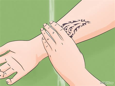 how to care for new tattoo how to care for a new 13 steps with pictures