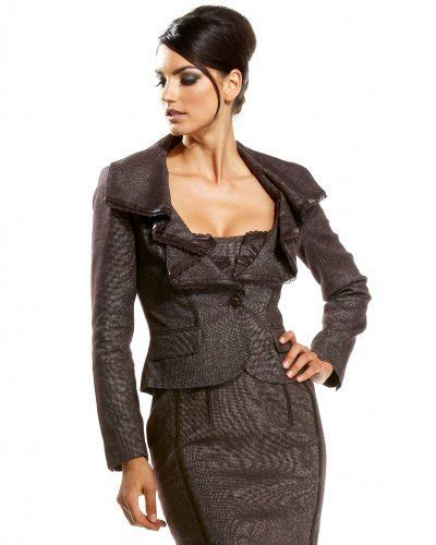 10 Sexiest For The Office From Bebe by 2 Ruffled Tweed Collar Blazer 10 Sexiest For