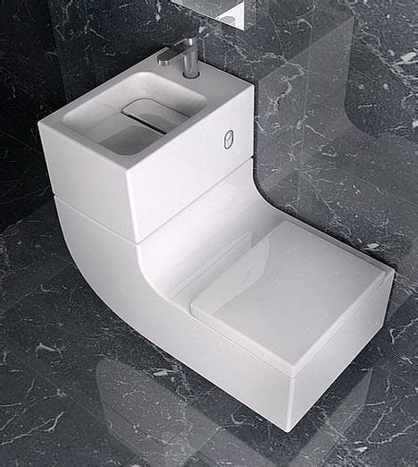 Space Saver Shower Baths space saving sink and toilet combined design