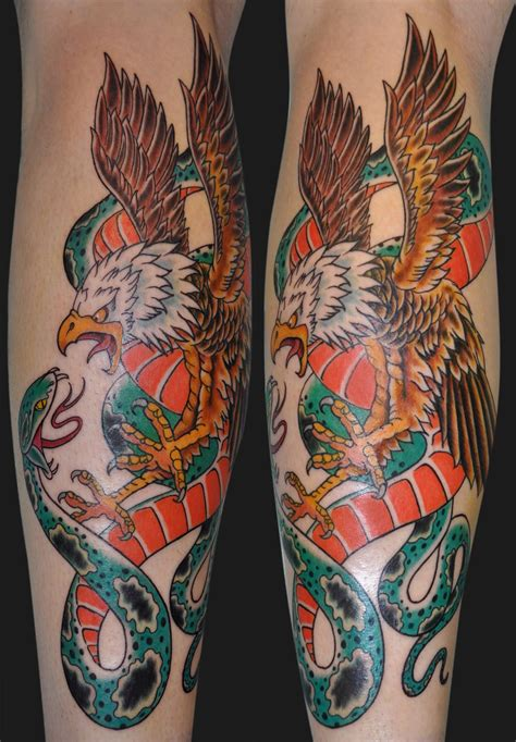 eagle and snake tattoo design 45 snake and eagle tattoos collection