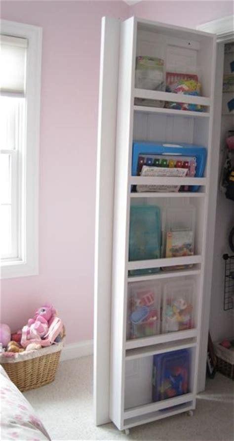 Add Shelving To The Inside Of Closet Doors To Organize Closet Door Shelf