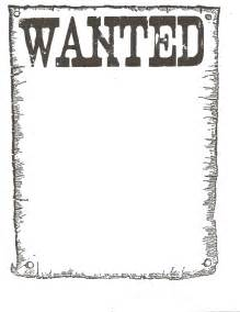 black and white wanted poster template 6 best images of printable wanted poster template blank