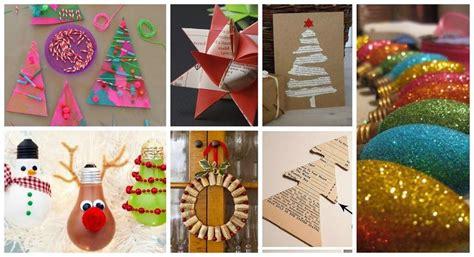 decoraci 243 n navide 241 a a mano con materiales de reciclaje manualidades