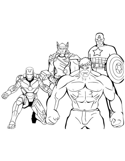 avengers coloring pages to print coloring home