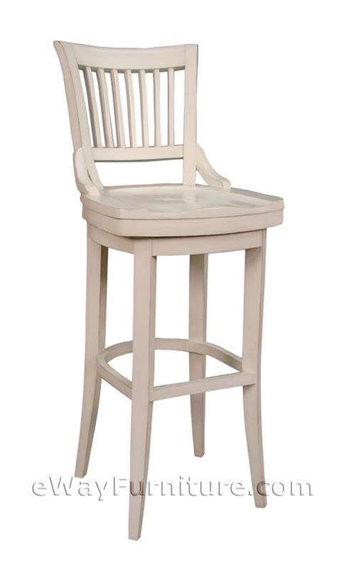 white bar stools wood 2 antique white 24 quot wood swivel counter height bar stools