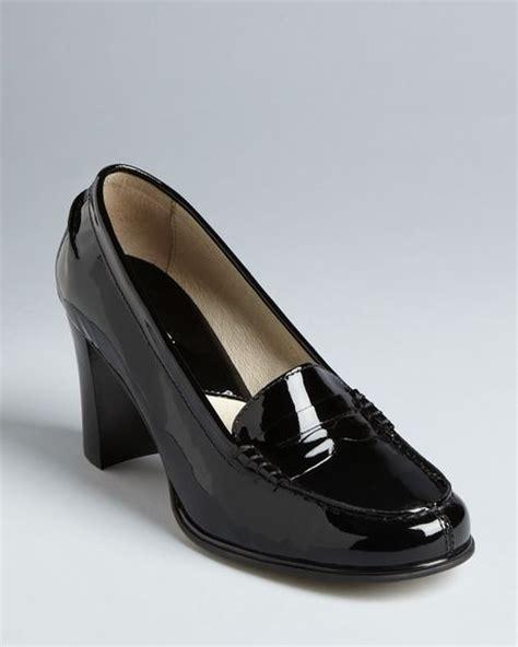 michael kors bayville loafer michael kors michael loafer pumps bayville in black lyst