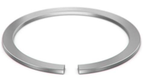 constant section retaining ring constant section retaining rings snap rings smalley