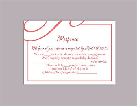 diy wedding card template diy wedding rsvp template editable text word file