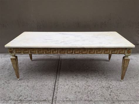 antique italian neoclassical style marble top coffee table