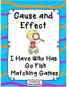 blank go fish card template cause and effect informational texts and task cards on