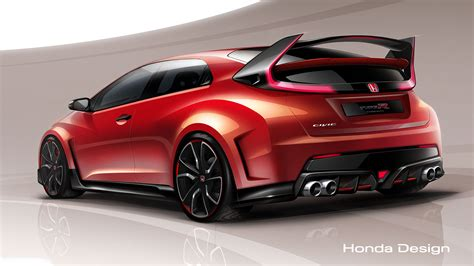 Car Design Types by Honda Previews Civic Type R Concept Ahead Of Geneva Debut