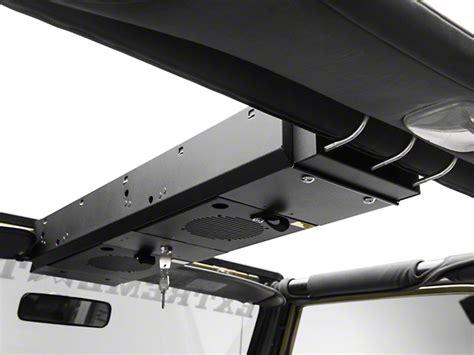 jeep wrangler overhead storage tuffy wrangler overhead security console 2 compartment