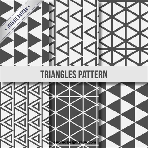 geometric pattern ai download triangle patterns collection vector free download