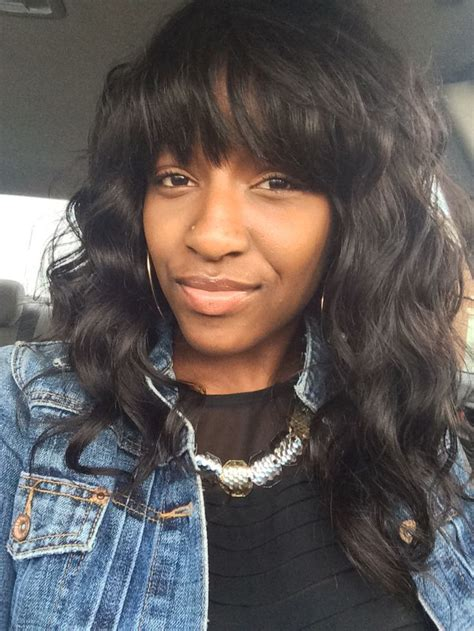 body wave hair with bangs 25 trending sew in with bangs ideas on pinterest
