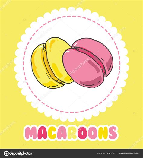 Sweet Macaroon Pink sweet yellow and pink macaroon cake biscuit