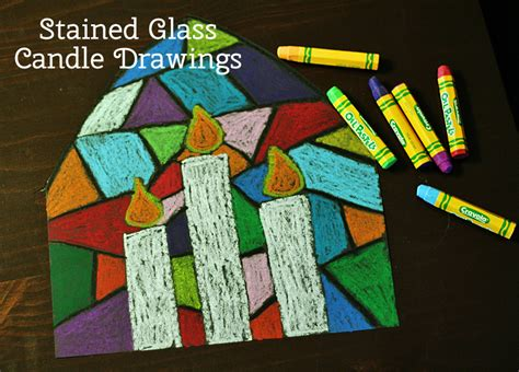 photos of elementary students christmas art colorful stained glass candle drawings make and takes