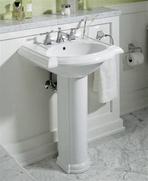 ideas for small bathrooms with pedestal sink storage