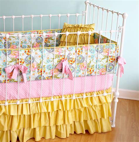 Handmade Crib Bedding - yellow baby bedding lottie da baby