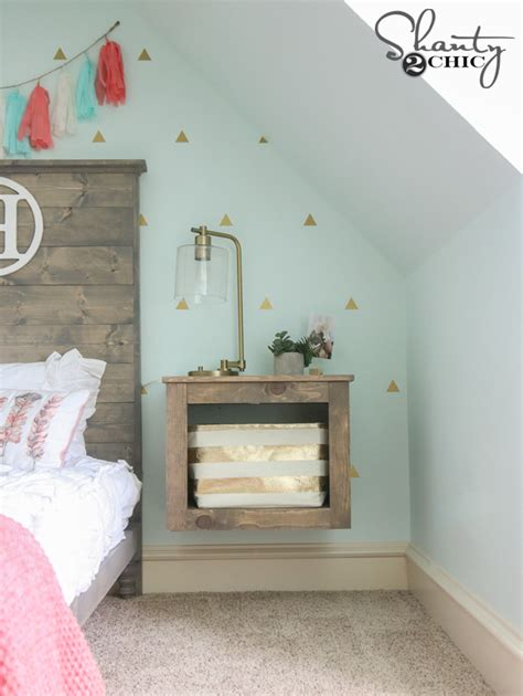 Diy Floating Nightstand diy floating storage nightstand shanty 2 chic