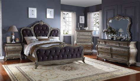 tufted king bedroom set roma french bombe crystal tufted 4 piece king bedroom set