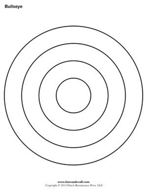 Bullseye Template Printable bullseye printable for the