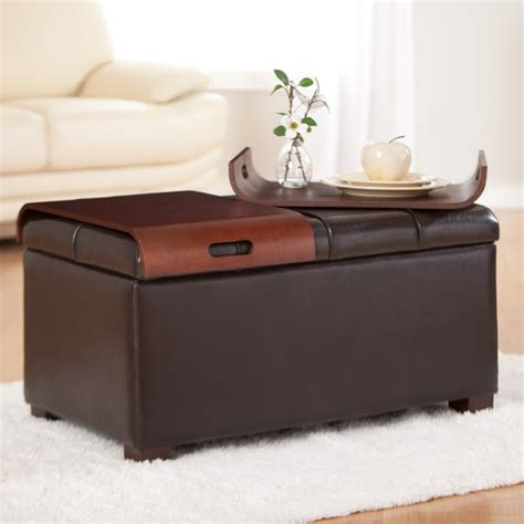 tray table ottoman storage storage ottoman with tray