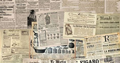 Paper From Newspaper - make mine mini newspaper collage sheets for your projects