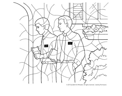 missionaries coloring page