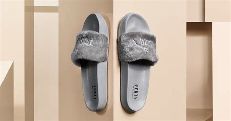 Adidas Slop Gray when are rihanna s grey fur slides coming out the