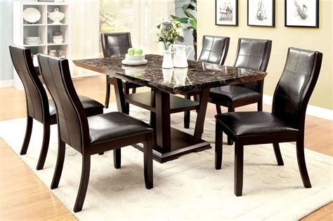 pedestal dining room table sets clayton i dark cherry rectangular pedestal dining room set
