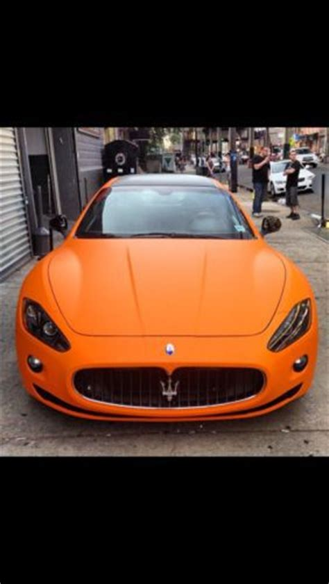 matte orange maserati buy used maserati gran turismo super exotic matte orange