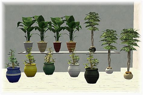 empire sims 3 3 small potted plants by lisen801 mod the sims pots recolours of maxis bg potted plants