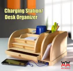wooden charging station organizer desk organizer with charging station woodworking for