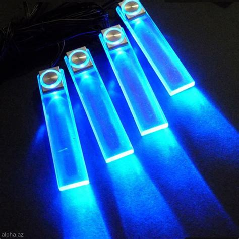 Interior Floor Lights Car by Blue Light Car Decorative Lights Charge 4 Led Interior