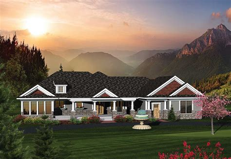 Rambling Ranch House Plans 2 Bedroom Rambling Ranch Home Plan 89822ah Architectural Designs House Plans