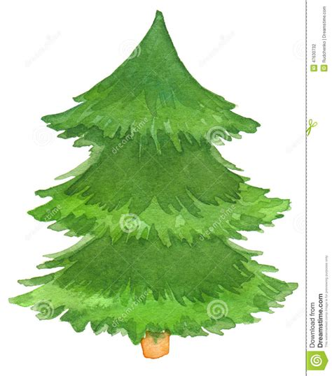 painted hand christmas trees watercolor painted tree stock photo image 47630732