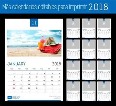 Calendarios Para Imprimir M 225 S Calendarios 2018 Editables Y Listos Para Imprimir