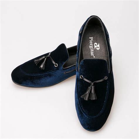 navy blue leather tassel shoes s wedding