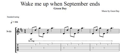 tutorial guitar wake me up wake me up when september ends tab pdf rightnewslg over