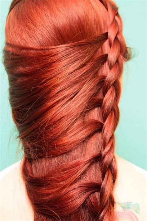 braided hairstyles red hair red braid hair envy pinterest