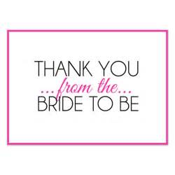 bridal shower thank you pink invitations cards on