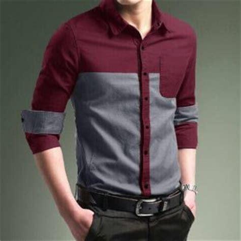 Kemeja Pria Hem Cowok Baju Lengan Panjang Bobby Putih baju kemeja pria model terbaru quot pattaya brown quot