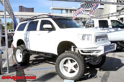 White Toyota Sequoia SEMA 2013 11 6 13