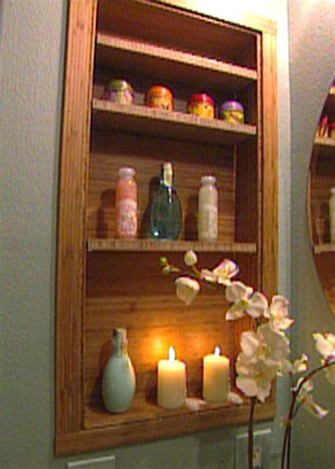 diy recessed medicine cabinet how to build a modern bamboo medicine cabinet hgtv