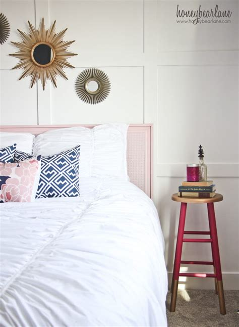 navy and pink bedroom navy and pink guest room reveal honeybear