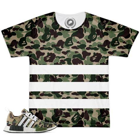 Matching Camo Shirts Match Bape X Adidas Nmd Camo Striped T Shirt
